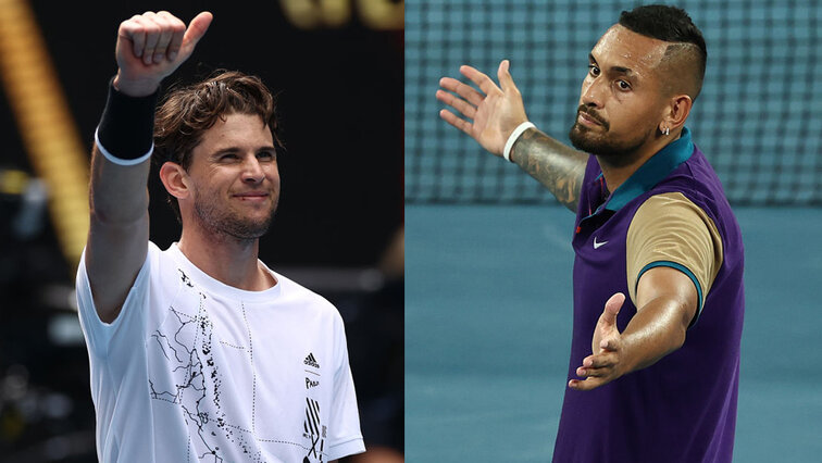 Dominic Thiem und Nick Kyrgios in Melbourne 2021