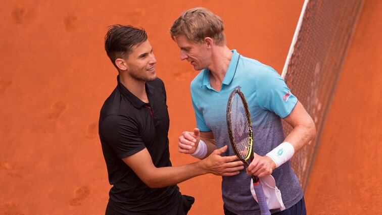 Dominic Thiem und Kevin Anderson in Madrid 2018