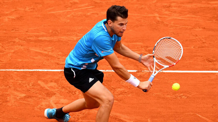 Home, sweet home: Dominic Thiem auf Sand