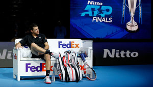 Dominic Thiem bei den ATP Finals in London