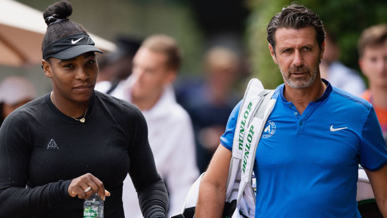 Serena Williams und Patrick Mouratoglou in Wimbledon 2019