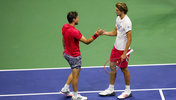 Dominic Thiem und Alexander Zverev in New York