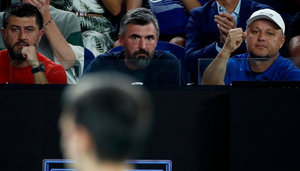 Goran Ivanisevic in der Box von Novak Djokovic