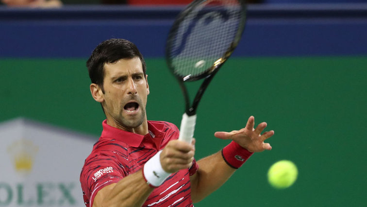 Novak Djokovic war in Shanghai on fire