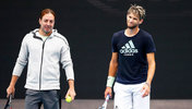 Nicolas Massu und Dominc Thiem in Melbourne