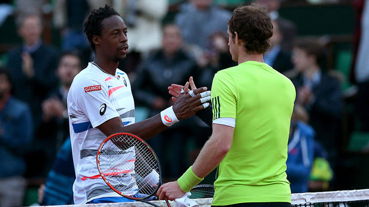 Gael Monfils und Andy Murray in Paris 2014