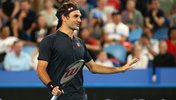 Roger Federer beim Hopman Cup in Perth