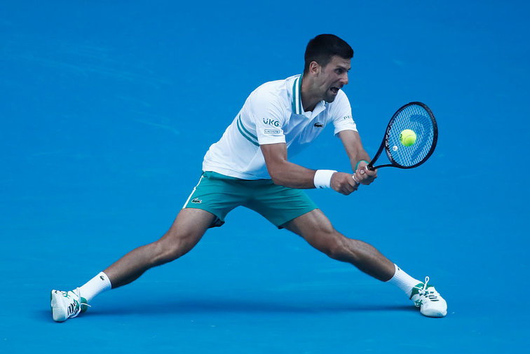 Novak Djokovic bei den Australian Open in Melbourne