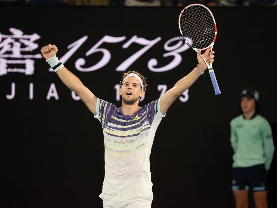 Australian Open: Dominic Thiem kämpft Alexander Zverev in