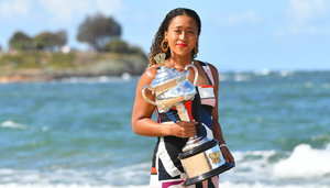 Naomi Osaka beim Fotoshooting am Brighton Beach