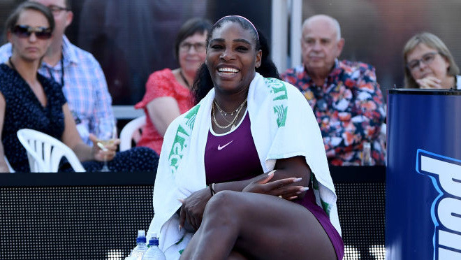 Serena Williams hatte in Auckland gut lachen